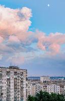 High buildings in the Obolon district of Kiev