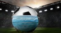 Soccer or football ball in mask