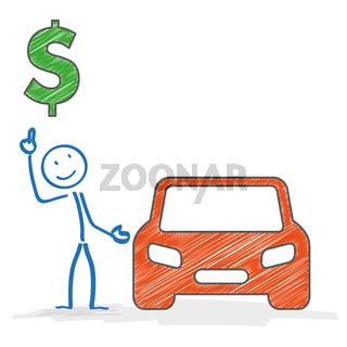 Stickman Car Dollar