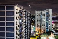 Singapore Urban Skyline at Dusk