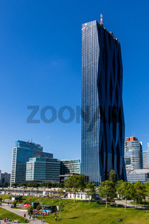 Donau City Skyscrapers, Buildings and DC Tower of Danube City in Vienna, Austria, Europe