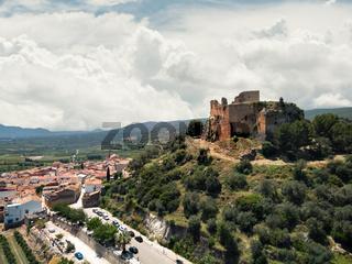 Aerial view Montesa castle. Spain