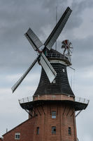 Bunder Mill, Bunde, Rheiderland, East Frisia, Lower Saxony, Germany