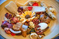 Potpourri in a small wooden bowl