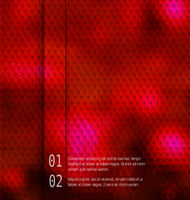 Blurred  hexagon mosaic  red template