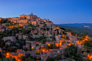 Gordes Nacht - Gordes at night 01