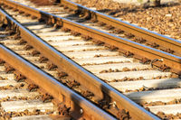rails in a railway station