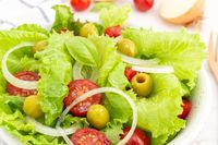 Close up of a Fresh and healthy salad