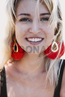 Happy stylish woman portrait