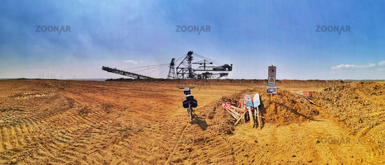 Panorama edge of the Garzweiler I opencast mine