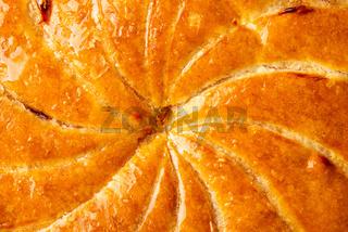 Detail shot of galette des rois