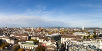 Skyline view of Basel, Switzerland