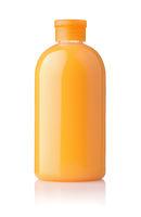 Bottle of orange shower gel