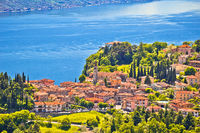 Pieve village above Garda lake view