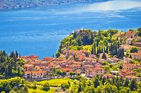 Pieve village above Garda lake view