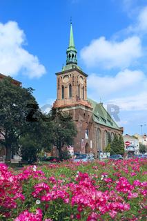 Beautiful church in Gdansk and beautiful. Urban nature