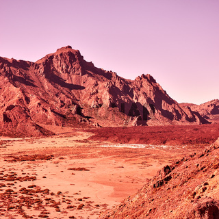 Martian landscape in the highland in Tenerife