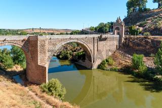 Alcantara Bridge over Tagus River in Toledo