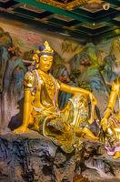 Buddha statue in Temple 33 statues of guanyin in the Sanya Nanshan Cultural Center