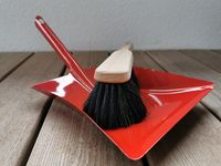 broom set on wooden floor
