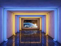 The futuristic corridor