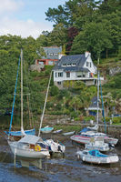 Idyllic scenery at Pont-Aven, a commune in the Finistere department of Brittany (Bretagne)