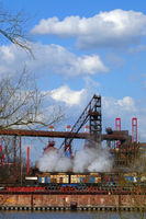 Steelworks in Hamburg Waltershof