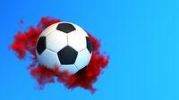 Football Red Smoke