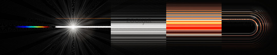 Futuristic stripe object panorama background design with light