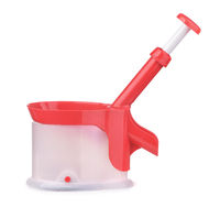 Cherry pitter with stone catcher container
