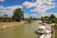 Boats at the French Canal-du-Midi