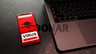 Virus Smartphone Infection