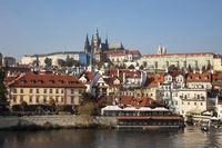 St. Vitus Cathedral and Prague Castle, Prague, Bohemia, Czech Republic, Europe