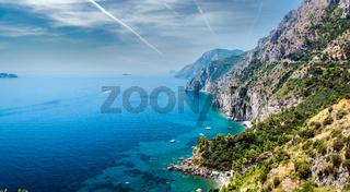 Via Nastro Azzurro, Amalfi Coast. Italy