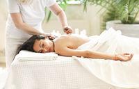 Body massage or beauty treatment in spa salon