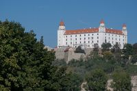 Bratislava Castle from south bank of the Danube