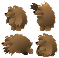 Bear Cartoon Design Element Set