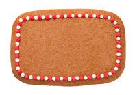 Gingerbread Christmas Cookie In Shape Of Rectangle
