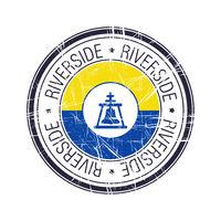 City of Riverside, California vector stamp