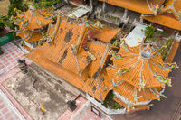 aerial view of ruins of Wuchanggong temple when earthquake