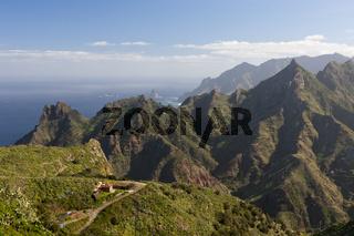 Blick von Taborno ueber das Anaga Gebirge, Teneriffa
