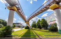 Moscow monorail road in summer sunny day