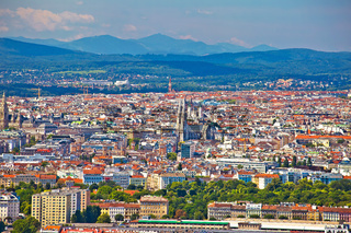 Vienna old city center aerial view