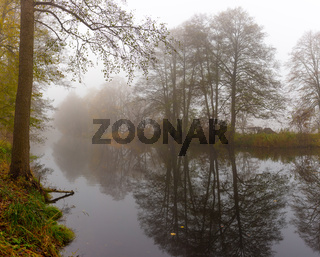 Brandenburg, Barnim, Zerpenschleuse, Herbst, Winter, nebel, Finowkanal