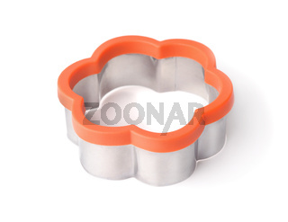 Cookie cutter made of steel and silicone