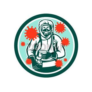 Medical Worker Coronavirus Circle Retro