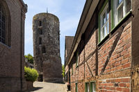 Mill tower, tower from the 9th century, Liedberg, Korschenbroich, Lower Rhine, Germany, Europe
