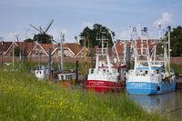 Fishing boats at the harbor of Ditzum