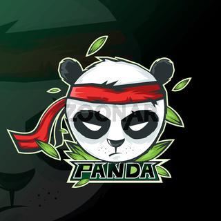 panda mascot logo esport gaming. panda mascot logo illustration.