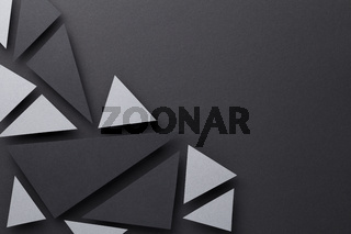 Abstract Composition Over Black Paper Background
